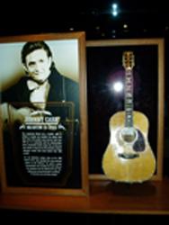 Én af Johnny Cash-effekterne i Country Music Hall Of Fame & Museum